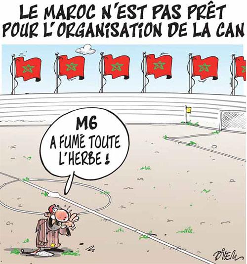 Le Maroc n'est pas prêt pour l'organisation de la CAN - Dilem - Liberté - Gagdz.com