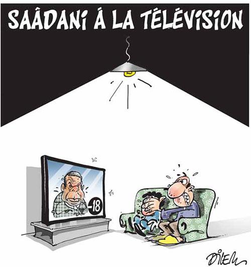 Saâdani à la télévision - Dilem - Liberté - Gagdz.com