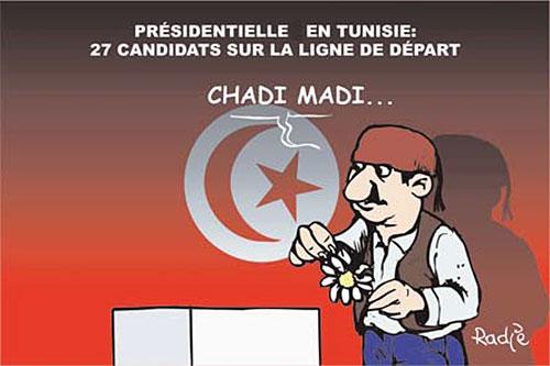 Présidentielle en Tunisie: 27 candidats sur la ligne de départ - Ghir Hak - Les Débats - Gagdz.com