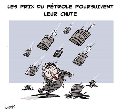 Les prix du pétrole poursuivent leur chute - Lounis Le jour d'Algérie - Gagdz.com