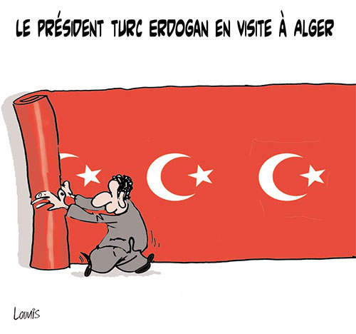 Le président turc Erdogan en visite à Alger - Lounis Le jour d'Algérie - Gagdz.com