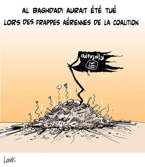 Al Baghdadi aurait été tué lors des frappes aériennes de la coalition - frappes - Gagdz.com