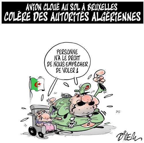 Avion cloué au sol à Bruxelles: Colère des autorités algériennes - Dilem - Liberté - Gagdz.com