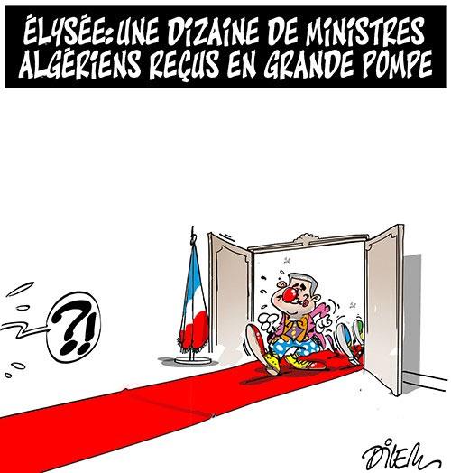 Elysée: Une dizaine de ministres algériens reçus en grande pompe - Dilem - Liberté - Gagdz.com