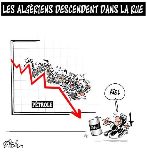 Les Algériens descendent dans la rue - Dilem - Liberté - Gagdz.com