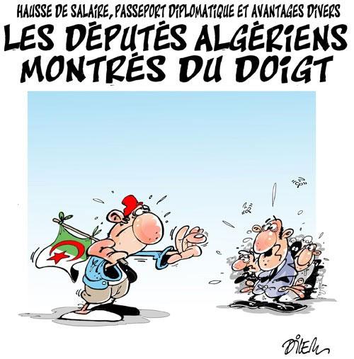 Hausse de salaire, passeport diplomatique et avantages divers: Les députés algériens montrés du doigt - Dilem - Liberté - Gagdz.com