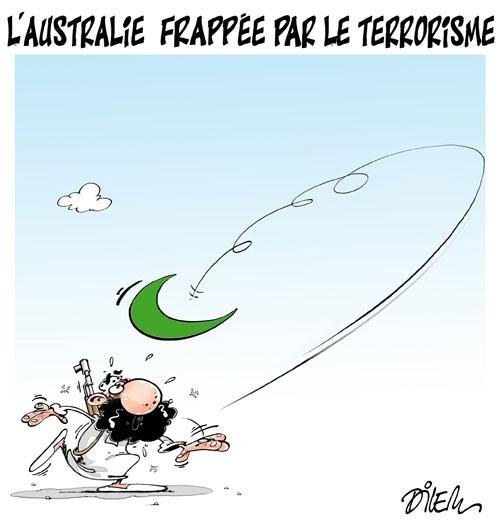 L'australie frappée par le terrorisme - Dilem - Liberté - Gagdz.com
