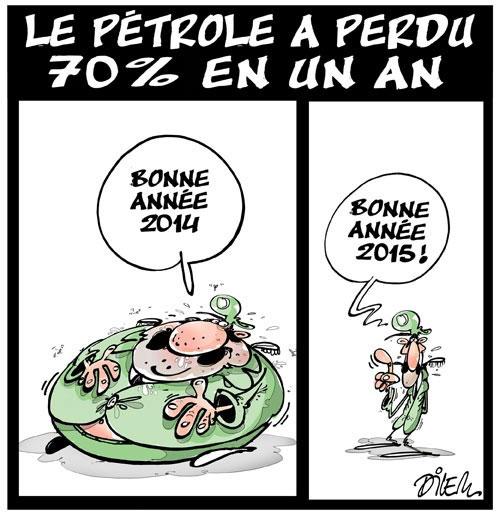 Le pétrole a perdu 70% en un an - Dilem - Liberté - Gagdz.com
