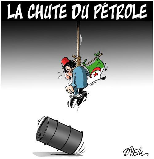 La chute du pétrole - Dilem - Liberté - Gagdz.com