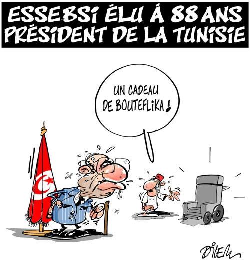 Essebsi élu à 88 ans président de la Tunisie - Dilem - Liberté - Gagdz.com