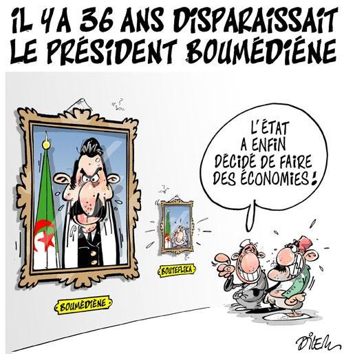 Il y a 36 ans disparaissait le président Boumédiéne - Dilem - Liberté - Gagdz.com