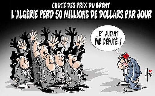 Chute des prix du brent: L'Algérie perd 50 millions de dollars par jour - Le Hic - El Watan - Gagdz.com