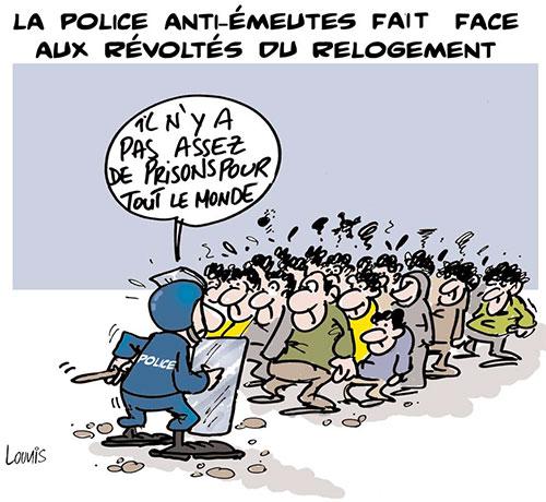 La police anti-émeutes fait face aux révoltés du relogement - Lounis Le jour d'Algérie - Gagdz.com