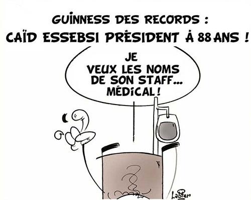Guiness des records: Caïd Essebsi président à 88 ans - Vitamine - Le Soir d'Algérie - Gagdz.com