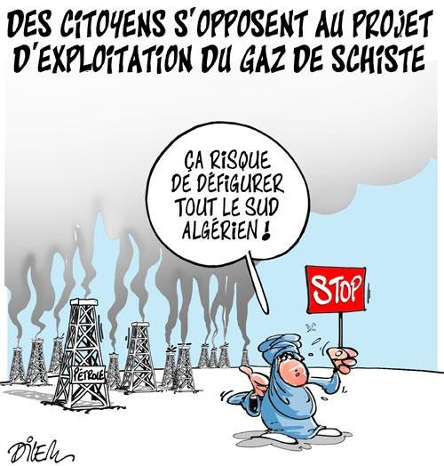 Des citoyens s'opposent au projet d'exploitation du gaz de schiste - projet - Gagdz.com