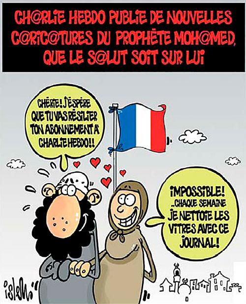 Charlie Hebdo publie de nouvelles caricatures du prophète Mohamed que le salut soit sur lui - Islem - Le Temps d'Algérie - Gagdz.com