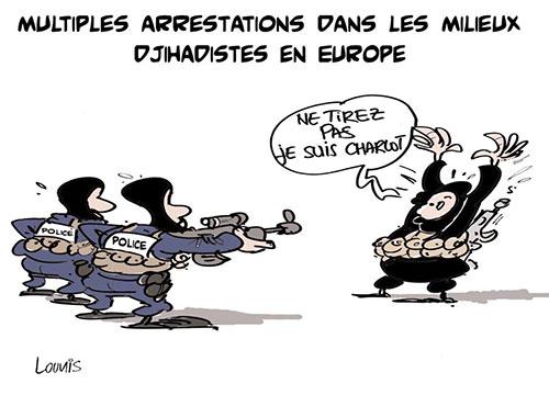 Multiples arrestations dans les milieux djihadistes en Europe - Lounis Le jour d'Algérie - Gagdz.com