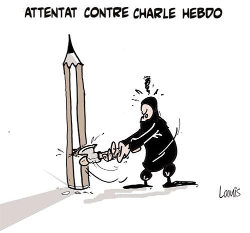 Attentat contre Charlie Hebdo - Lounis Le jour d'Algérie - Gagdz.com
