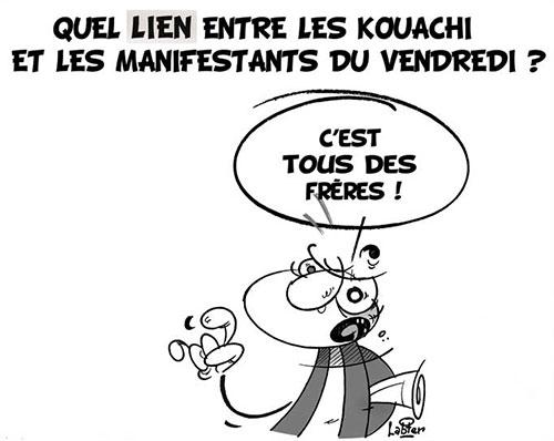 Quel lien entre les Kouachi et les manifestants du vendredi ? - vendredi - Gagdz.com
