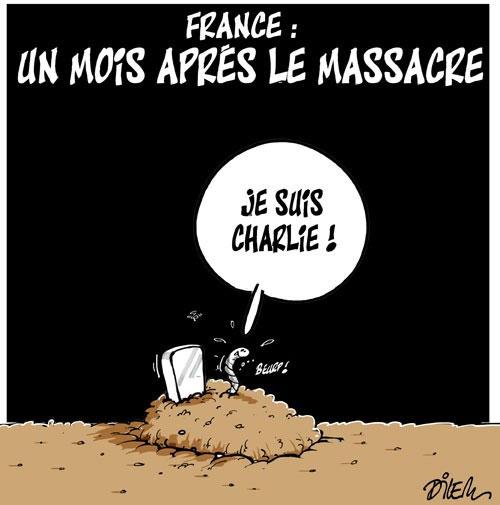 France: Un mois après le massacre - Dilem - Liberté - Gagdz.com