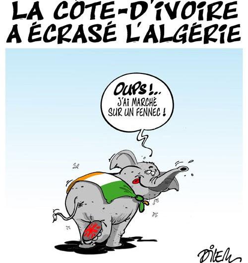 La côte-d'ivoire a écrasé l'Algérie - Dilem - Liberté - Gagdz.com