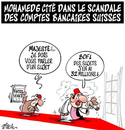 Mohamed 6 cité dans le scandale des comptes bancaires suisses - Dilem - Liberté - Gagdz.com