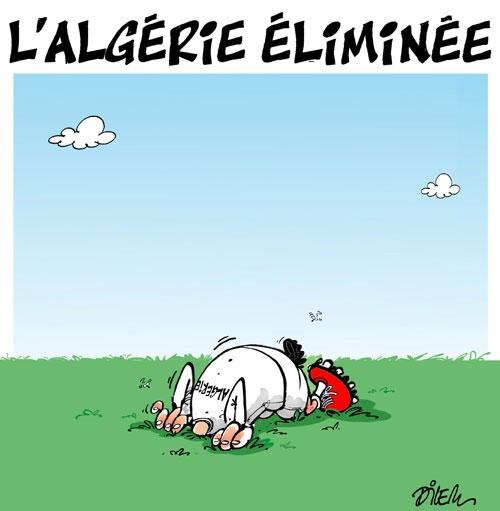 L'Algérie éliminée - Dilem - Liberté - Gagdz.com