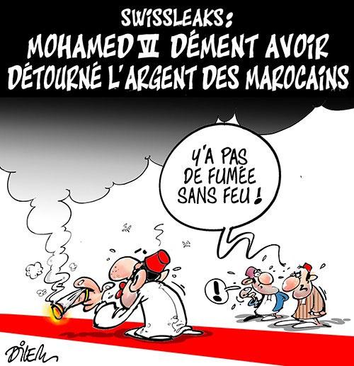 Swissleaks: Mohamed VI dément avoir détourné l'argent des marocains - Dilem - Liberté - Gagdz.com
