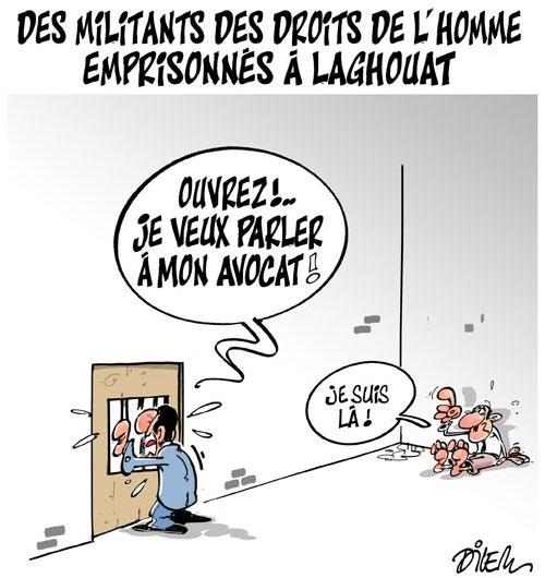 Des militants des droits de l'homme emprisonnés à Laghouat - Droits - Gagdz.com