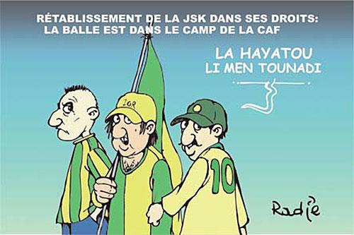 Rétablissement de la JSK dans ses droits: La balle est dans le camp de la CAF - Ghir Hak - Les Débats - Gagdz.com