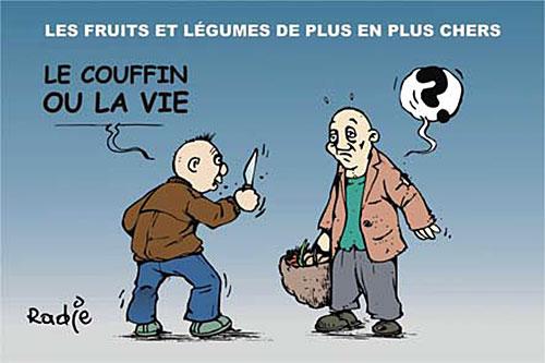 Les fruits et légumes de plus en plus chers - Ghir Hak - Les Débats - Gagdz.com