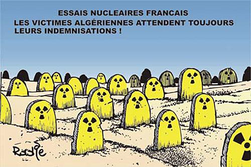 Essais nucléaires français: Les victimes algériennes attendent toujours leurs indémnisations - Ghir Hak - Les Débats - Gagdz.com