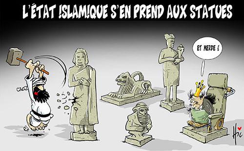 L'état islamique s'en prend aux statues - Le Hic - El Watan - Gagdz.com