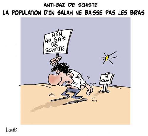 Anti-gaz de schiste: La population d'In Salah ne basse pas les bras - Lounis Le jour d'Algérie - Gagdz.com