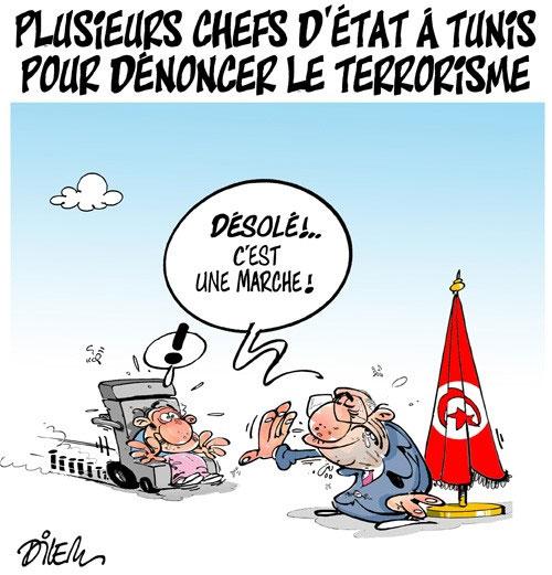 Plusieurs chefs d'état à Tunis pour dénoncer le terrorisme - Dilem - Liberté - Gagdz.com