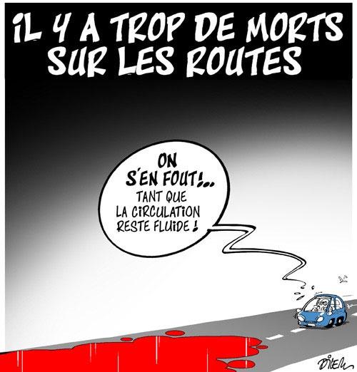 Il y a trop de morts sur les routes - Dilem - Liberté - Gagdz.com