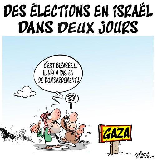 Des élections en Israël dans deux jours - Dilem - Liberté - Gagdz.com