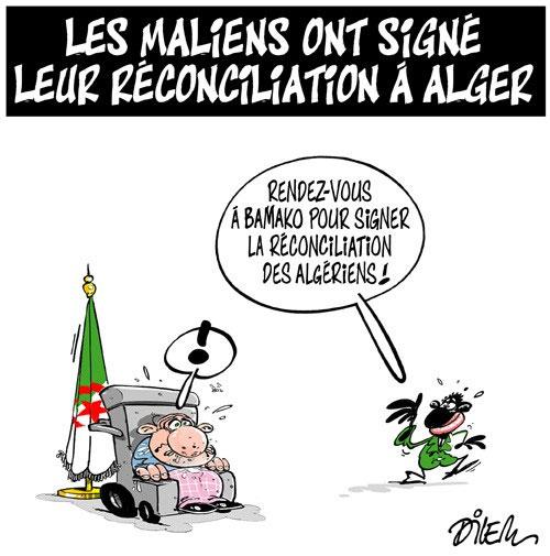 Les Maliens ont signé leur réconciliation à Alger - Dilem - Liberté - Gagdz.com