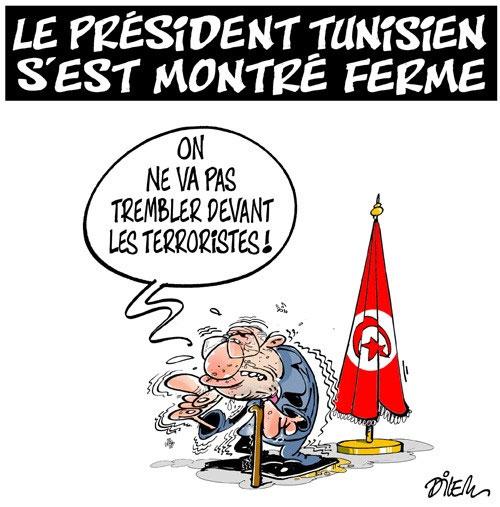 Le président tunisien s'est montré ferme - Dilem - Liberté - Gagdz.com
