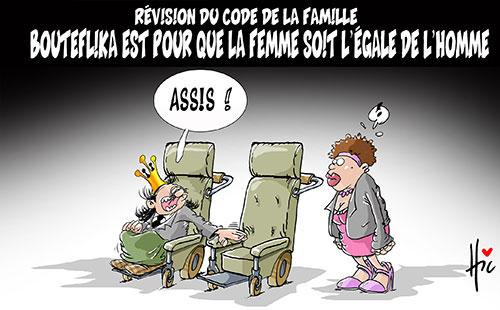 Révision du code de la famille: Bouteflika est pour que la femme soit l'égale de l'homme - Le Hic - El Watan - Gagdz.com