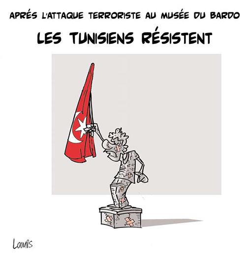 Après l'attaque terroriste au musée du Bardo: Les Tunisiens résistent - Lounis Le jour d'Algérie - Gagdz.com