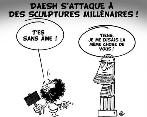 Daesh s'attaque à des sculptures millénaires - Vitamine - Le Soir d'Algérie - Gagdz.com