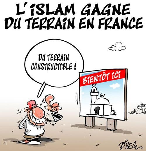 L'islam gagne du terrain en France - Dilem - Liberté - Gagdz.com