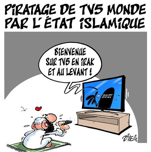 Piratage de TV5 monde par l'état islamique - Dilem - Liberté - Gagdz.com