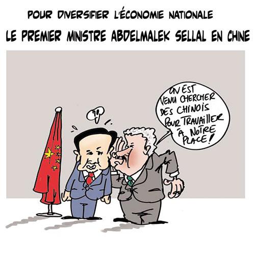 Pour diversifier l'économie nationale: Le premier ministre Abdelmalek Sellal en Chine - Lounis Le jour d'Algérie - Gagdz.com