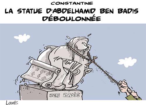 Constantine: La statue d'Abdelhamid Ben Badis déboulonnée - Lounis Le jour d'Algérie - Gagdz.com