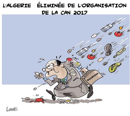 L'Algérie éliminée de l'organisation de la can 2017 - Lounis Le jour d'Algérie - Gagdz.com