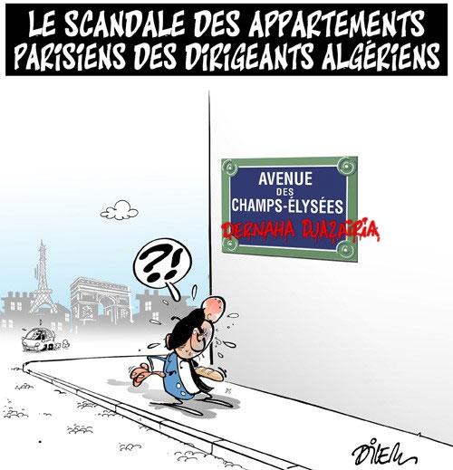 Le scandale des appartement parisiens des dirigeants algériens - Dilem - Liberté - Gagdz.com