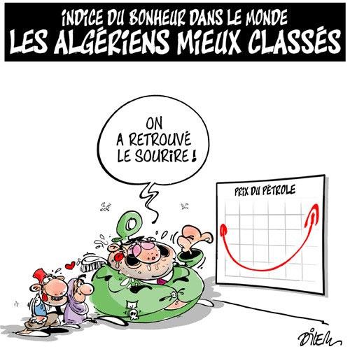 Indice du bonheur dans le monde: Les Algériens mieux classés - Dilem - Liberté - Gagdz.com