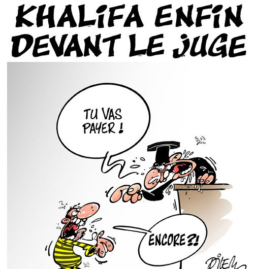 Khalifa enfin devant le juge - devant - Gagdz.com